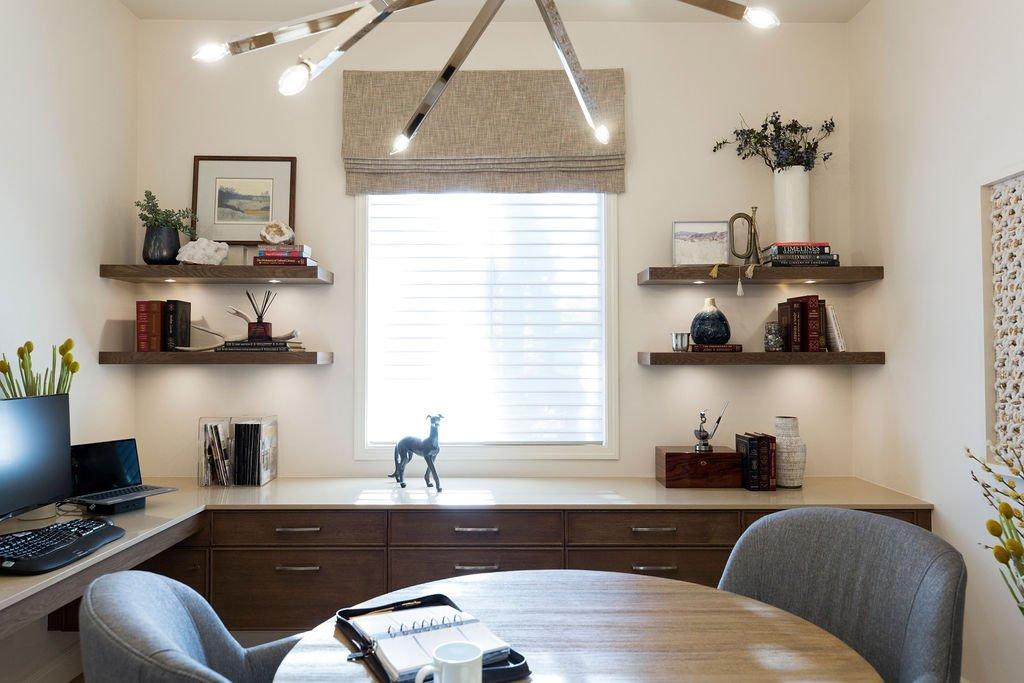 Home office redo by PepperJack Interiors California Interior Design Firm